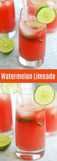 Watermelon Limeade – refreshing summer beverage of limeade with fresh watermelon juice. A perfect thirst quencher for backyard BBQs and parties | rasamalaysia.com