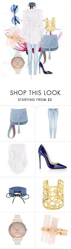 """""""2017 : Mother Day look"""" by abelaz on Polyvore featuring Lancôme, Steve Madden, J Brand, Christian Louboutin, Olivia Burton and House of Harlow 1960"""