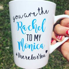 You're Rachel to my Monica - Friends TV Show Gift - Friends Fan Gift - BFF Gift - Best Friend Gift - You're my person -Graduation Gift Friends Tv Show Gifts, Bff Gifts, Best Friend Gifts, Best Friends, Monica Friends, Disney Shirts, Graduation Gifts, Tv Shows, Mugs