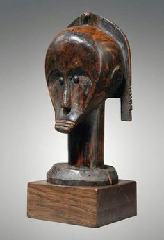 Reliquary fang head, north gabon