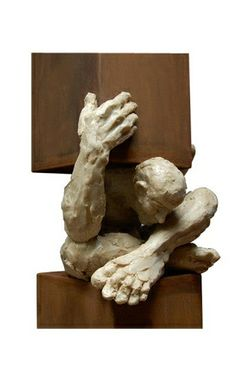 brown - man - sculpture - Edgar Zuniga Jimenez - figurative