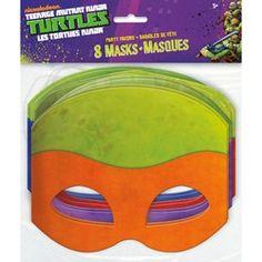 Teenage Mutant Ninja Turtles Masks (8 Pack)