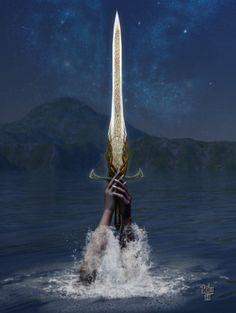 "Avalon Camelot King Arthur:  ""Excalibur,"" by *Erulian, at deviantART."