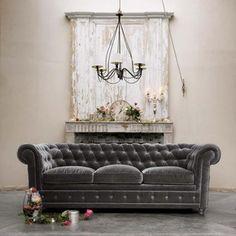 pretty gray couch...