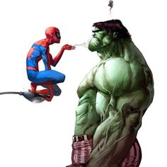 Even though I love Hulk, Spiderman is still way better!!!