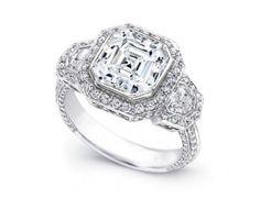 3-81-Carat-Asscher-amp-Shield-Three-Stone-Diamond-Engagement-Ring-F-VS1