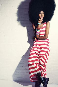 Natural hair - the afro.
