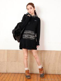 FOLK PATTERN DRESS(ミニワンピース) X-girl(エックスガール) calif(カリフ) B's INTERNATIONAL公式通販サイト