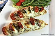 Hasselback Chicken Stuffed with Mozzarella, Tomato and Basil Recipe