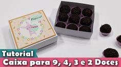 DIY - Como fazer Caixa para 9, 4, 3 e 2 doces | Tutorial | Passo a passo