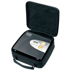 The Ring Automotive RAC600 Tyre Inflator in its carry case http://tyreinflatorguide.com/ring-automotive-rac600-review/