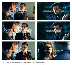 I always hear you.  River Song.  Doctor Who.