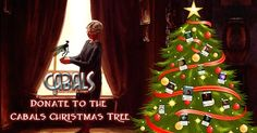 Donate to the Cabals Christmas Tree News Christmas Tree, Christmas Ornaments, Battle, Magic, News, Holiday Decor, Giveaway, Cards, Teal Christmas Tree