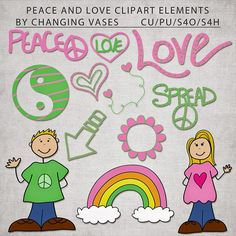 FREE Download - Peace and Love Clipart by Changing Vases