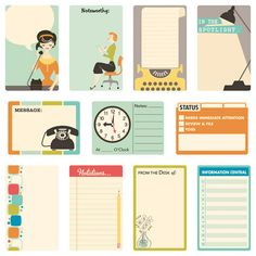 9 to 5 scrapbooking collection | by October Afternoon | ACCESSORIES | Journal Cards :)