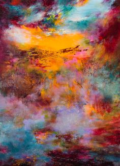 Rikka Ayasaki,  Sunset 7076, 100x73cm, 2015, acrylic on canvas
