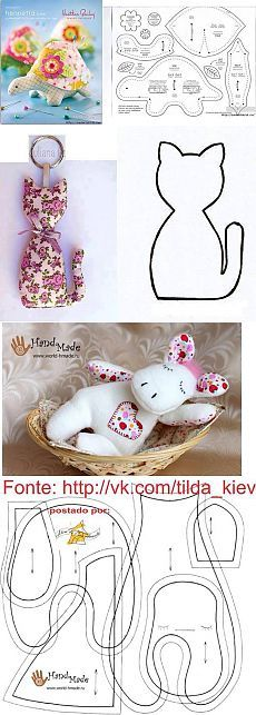 Large collection of patterns for soft toys - Crafts