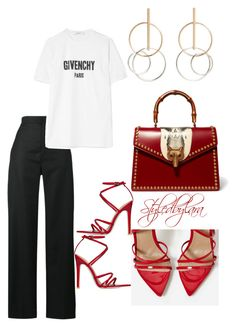 """After work meetings"" by lahraog on Polyvore featuring Jacquemus, Givenchy, MANGO and Gucci"