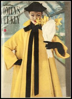 Ivy Nicholson in coat by Jacques Fath, The Australian Women's Weekly, August 13, 1952