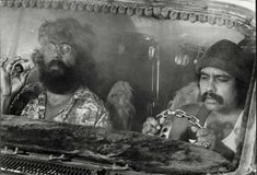 We made this homage to today& funniest stoners since Cheech and Chong& Jacobson and Ilana Glazer from Broad City! (photo illustration by Meg Wachter) Cheech E Chong, Get Free Music, 40 Year Old Men, Up In Smoke, Rockn Roll, Latin Music, Nouvel An, Custom Vans, Print Magazine