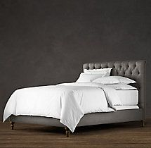 Chesterfield Upholstered Bed Without Footboard | Upholstered Beds | Restoration Hardware
