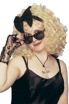 Blonde Brown Crimped Wig Heavy Metal Rocker RockStar Headbanger 80s 90 VooDoo