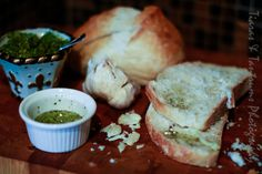 Thanksgiving Holiday with Nestle #PlanAhead #shop #cbias Tuscan bread with olive oil, herbs, pesto and fresh garlic