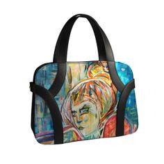 Andrea #design arts2be Black #handbag with Marie-Christine Thiercelin #artist