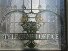 Stained Glass Detail of the Former Post and Telegraph Offices - Windsor