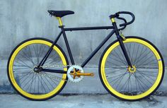 Black and Yellow fixie