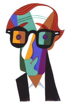 Woody Allen by David Cowles