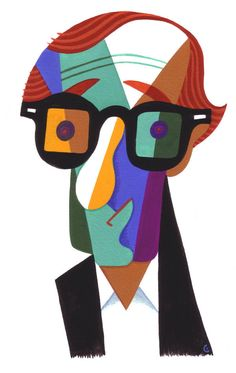 """""""Woody Allen"""" by David Cowles (CARICATURE) http://dunway.com/"""