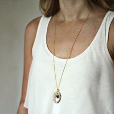 Floating Amethyst Necklace now featured on Fab.