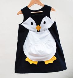 Girls Christmas penguin play dress,costume,1y,2y,3y,4y,5y. $60.00, via Etsy.