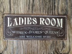 Vintage style tin metal sign / gift for her by RinTinSignCO