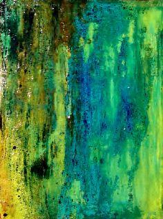 """MOSS"" Acrylic Acetone Spray Paint Epoxy Resin Canvas"