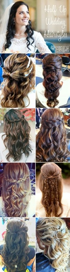 Half up Wedding Hair options