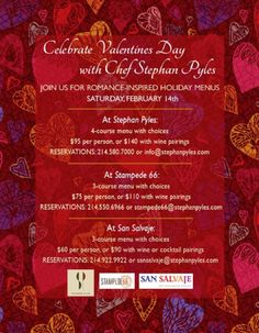 valentine day menu dallas