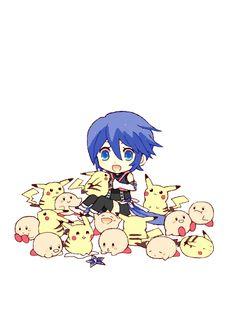 Cute! KH, Pokemon, Kirby crossover.