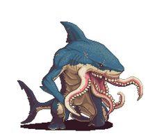 PixelJointTop Pixel Art — August 2014 (Top 10 ranks, titles and. Monster Design, Monster Art, Cool Pixel Art, Cool Art, Sprites, Pixel Characters, 8 Bit Art, Game Character Design, Creature Design