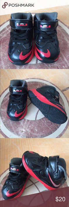 Nike Lebron X Black/ Red Shoes Sneakers