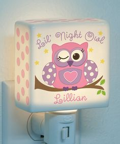 Love this Pink Lil' Night Owl Personalized Night-Light by Personalized Planet on #zulily! #zulilyfinds