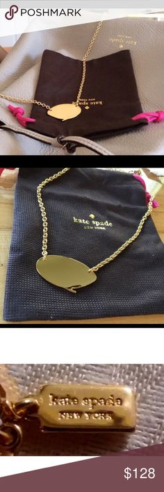 """Kate Spade Quote Unquote Necklace New with tag and comes in dust pouch, lobster claw closure, drop 1"""", chain length 17"""", weight 27.5 grams, handcrafted & comes with dust bag. kate spade Jewelry Necklaces"""