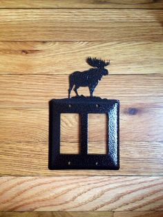 Moose Double GFI Light Switch Plate or Outlet Cover by OLHF, $12.00