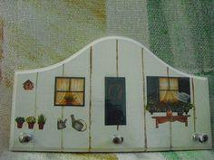 """Porta Chaves """"Casinha""""  http://www.elo7.com.br/porta-chaves-casinha/dp/3462AC"""