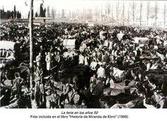Feria del Ángel en Miranda de Ebro.1950.
