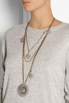 Lulu Frost Sun and Stars gold-plated crystal necklace NET-A-PORTER.COM