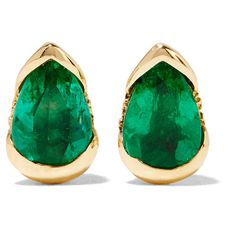 Fernando Jorge Bloom 18-karat gold, emerald and diamond earrings ($1,740) ❤ liked on Polyvore featuring jewelry, earrings, gold, emerald earrings, handcrafted jewelry, 18 karat gold jewelry, 18k jewelry and floral earrings