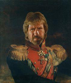 Celebrities as neoclassical paintings