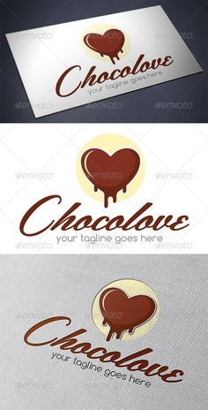 Chocolate Love Logo Template - Download…